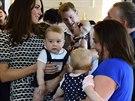Princ George na své první oficiální návštěvě.