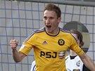 Jihlavský Marek Jungr se raduje z gólu.