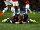 Záložník Bastian Schweinsteiger z Bayernu Mnichov smutní po zmařené šanci.