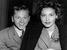 Mickey Rooney s manželkou Avou Gardnerovou v New Yorku v lednu 1942