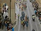 Běžci Pražského půlmaratonu krátce po startu