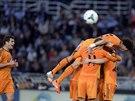 OSLAVY. Hráči Realu Madrid se radují z trefy proti San Sebastianu.