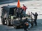 Snímek z roku 1997: Policie zatýká separatisty, kteří zaútočili na benátskou...