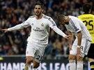 2:0. Isco z Realu Madrid oslavuje gól v síti Dortmundu.