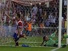 GÓL ZKRAJE ZÁPASU. Koké právě poslal Atlético Madrid do vedení nad Barcelonou.