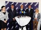Hnutí ANO představilo své kandidáty do eurovoleb. (1. dubna 2014)