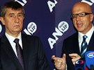 Hnutí ANO představilo své kandidáty do eurovoleb. Na snímku Andrej Babiš a...