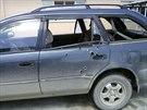 Automobil, v němž obě novinářky cestovaly (4. dubna 2014)