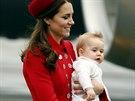 Vévodkyně z Cambridge Kate a její syn princ George na návštěvě Nového Zélandu...