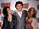 Bob Geldof a jeho dcery Pixie a Peaches (23. února 2006)