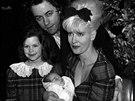 Bob Geldof, jeho manželka Paula Yatesová a dcery Fifi Trixibelle a Peaches (16....