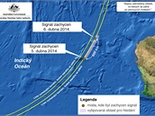 MAPA: P�tr�n� po �ern�ch sk���k�ch MH370