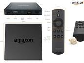Nový set-top box Amazon Fire TV i s dálkovým ovladačem, který se připojí před...