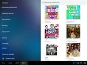 Aplikace streamovací hudební služby Rdio pro Android podporuje nově přenos do...