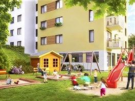 Čakovický park - hřiště mateřská školka