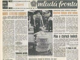 Vydání Mladé fronty z konce května 1989 s fotografií z demonstrace.