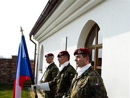 Pietní akt u příležitosti 70. výročí výsadku parašutistům ze skupiny Barium ve...