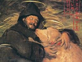 Félicien Rops: Pokušení svatého Antonína, 1858, olejomalba