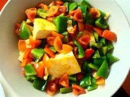 Tofu na paprice a žampionech