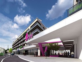 Podoba nového obchodního a bytového centra na Palmovce.
