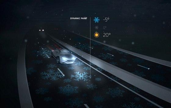 Symboly sněhových vloček by se na silnicích mohly objevovat v noci v případě...