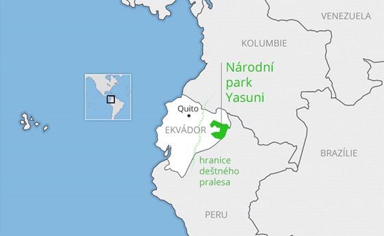 Ekvadorský Národní park Yasuni