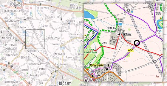 MAPKA: Místo v pražské Uhříněvsi, kde se našla těla muže a dítěte