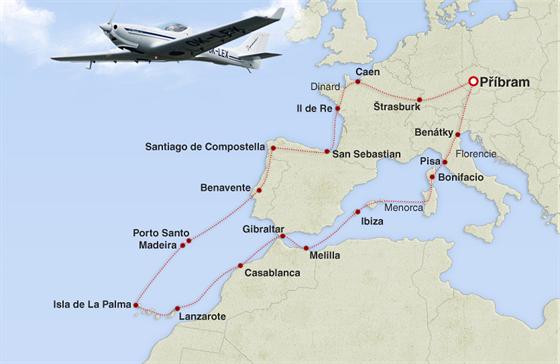 MAPA: On-line z nebe nad Evropou
