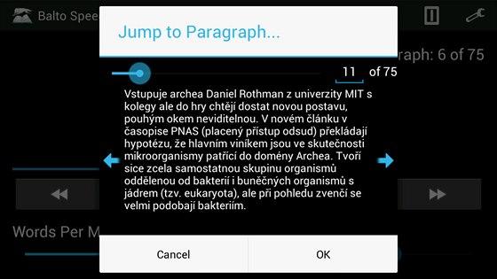 Velmi snadná je orientace v dlouhých textech. Zatímco ostatní čtečky jsou...