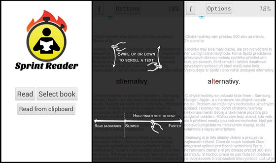 Sprint Reader se specializuje na čtení souborů na disku, případně ještě zvládne...