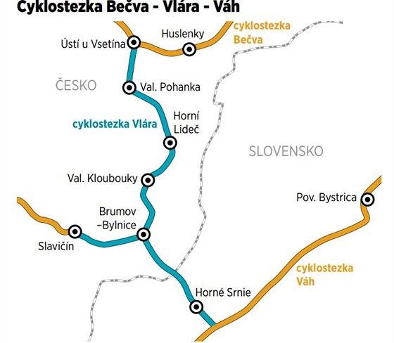 Trasa z Ústí u Vsetína do Horného Srnie zajistí propojení cyklostezek Bečva a...