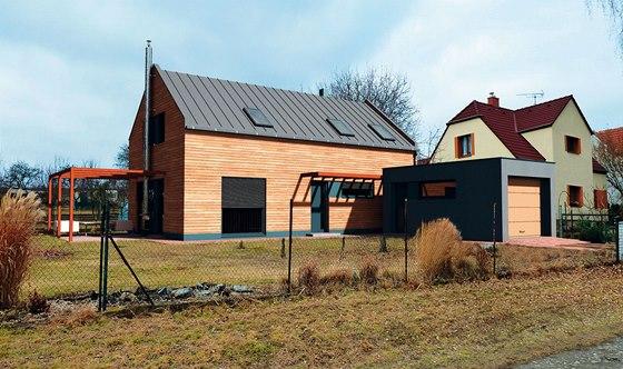 Vizualizace: nízkoenergetický dům v Chotuticích, projekt 2011, nyní ve výstavbě