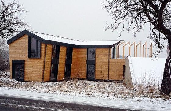 Nízkoenergetický dům pro tesařství Tůma, autorská spolupráce Prina,  projekt