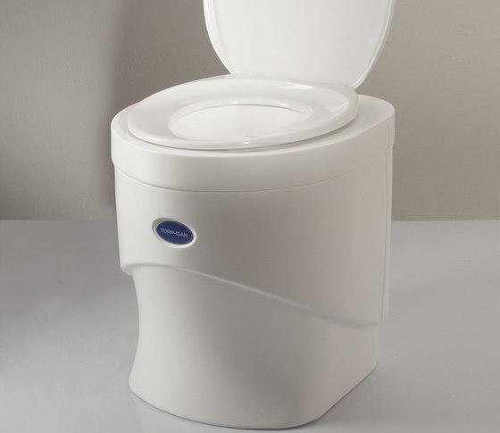 Separačně kompostovací toaleta Torp-Isak s ventilátorem na 12 V přímo v toaletě