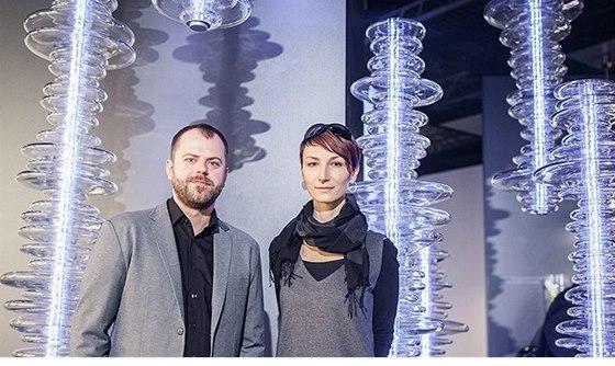 Petr Mikošek a Michaela Vrátníková - studio Boa design - autoři multimediálního