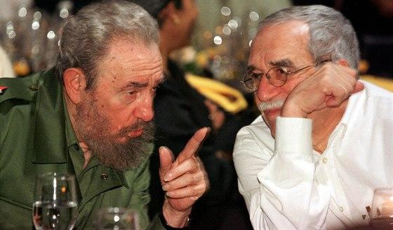 Gabriel García Márquez s kubánským prezidentem Fidelem Castrem