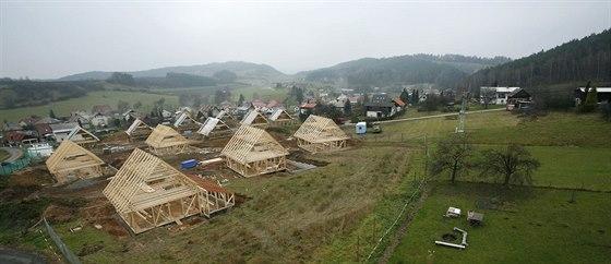 Výstavba pasivní vesničky