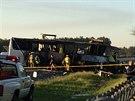 Následky nehody u kalifornského města Orland (11. dubna 2014)