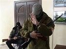 Radnici v Don�cku obsadili ozbrojen� stoupenci Moskvy (16. dubna 2014)