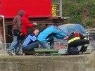 U zdymadla v Dolních Beřkovicích se našlo tělo muže (15.4.2014)