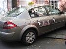 Vozidlo jednoho ze zastřelených taxikářů, které našli policisté zaparkované v...