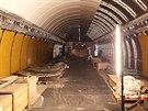 Dělníci ve stanici metra Národní třída finišují s rekonstrukcí. Zbývá dodělat...