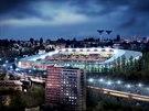 Hudba budoucnosti. Vizualizace ukazuje plány na modernizaci stadionu, kvůli...