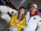 Snowboardistka Eva Samková se s pilotem Martinem Šonkou proletěla v jeho