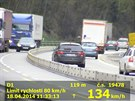 Řidič kombíku BMW ze Zlínska ohrožoval v době měření ostatní asi nejvíc. Jel