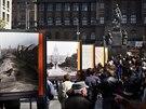 Na Václavském náměstí začala výstava Příběh Václavského náměstí, která proměny...