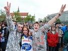 Druhé finálové utkání hokejové extraligy mezi Kometou a Zlínem (18. dubna)...