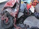 Vážná nehoda osobního vozu s autobusem v Častolovicích na Rychnovsku, do které...