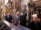 Prezident Miloš Zeman přijel do Broumova. Prohlédl si textilku Vebu a klášter,...