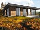 Vizualizace: nízkoenergetický dům ve Zruči nad Sázavou, projekt 2013, nyní v